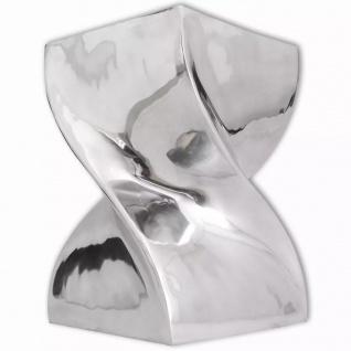 vidaXL Hocker/Beistelltisch Verdrehte Form Silbern Aluminium