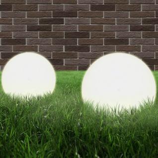 vidaXL LED-Gartenleuchten 2 Stk. Kugelförmig 25 cm PMMA