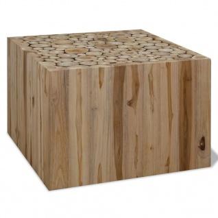 vidaxl couchtisch echtholz 50 x 50 x 35 cm