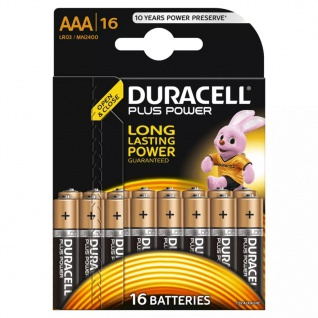 Duracell AAA-Alkalibatterien Plus Power 16 Stk.