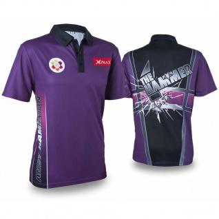 XQmax Darts Andy Hamilton Replikat Matchshirt Lila Größe XXL QD9200360
