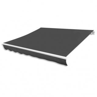 vidaXL Markisenstoff Sonnenschutz Anthrazit 500×300 cm Segeltuch