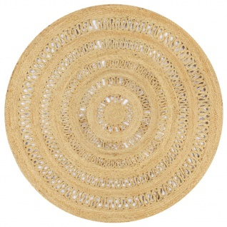 vidaXL Teppich Handgefertigt Jute Geflochten 150 cm