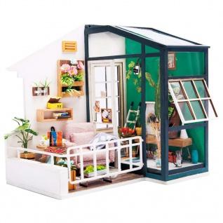 Robotime Miniatur Bausatz Balcony Daydreaming mit LED-Beleuchtung