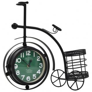 vidaXL Uhr Beidseitig Dreirad Nostalgie mit Stifthalter