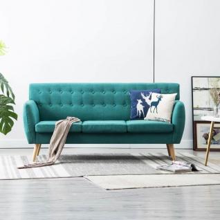 vidaXL 3-Sitzer-Sofa Stoffbezug 172x70x82 cm Grün