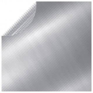 vidaXL Poolabdeckung Silbern 455 cm PE