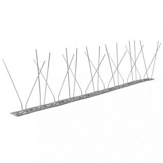 4-reihige Edelstahl Vogel- & Taubenabwehr-Spikes 6er Set