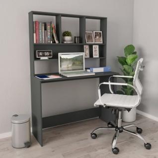 vidaXL Schreibtisch mit Regalen Grau 110×45×157 cm Spanplatte