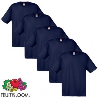 Fruit of the Loom Original T-Shirt 5 Stk 100% Baumwolle Navy M