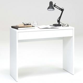 FMD Schreibtisch mit breiter Schublade 100x40x80 cm Weiß 362-001
