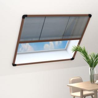 vidaXL Insektenschutz-Plissee für Fenster Aluminium Braun 120x120 cm