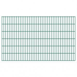 vidaXL 2D Gartenzaun-Elemente 2, 008x1, 23 m Gesamtlänge 42 m Grün