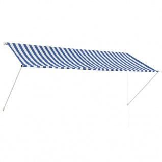 vidaXL Einziehbare Markise 300 x 150 cm Blau und Weiß