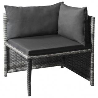 vidaXL 10-tlg. Garten-Lounge-Set mit Auflagen Poly Rattan Grau - Vorschau 4