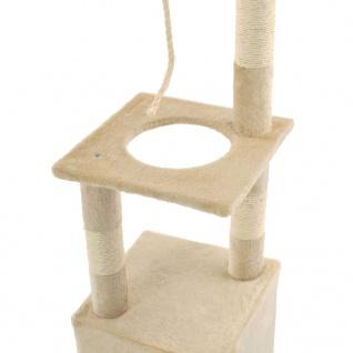vidaXL Katzen-Kratzbaum mit Sisal-Kratzsäulen 109 cm Beige - Vorschau 5