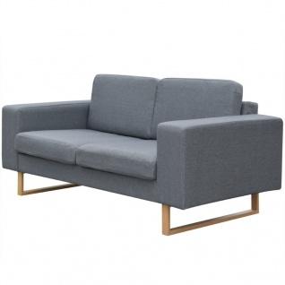 vidaXL 2-Sitzer Sofa Stoff Hellgrau