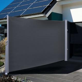 HI Seitenmarkise 3×1, 6 m Schwarz Polyester