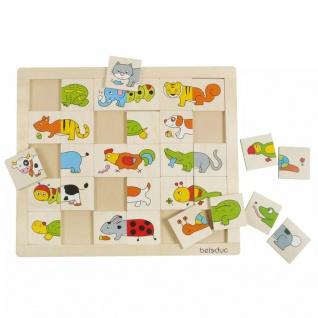 Beleduc Match & Mix Puzzle Tiere 11006