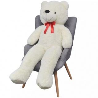 XXL Weicher Plüsch-Teddybär Weiß 100 cm - Vorschau 2