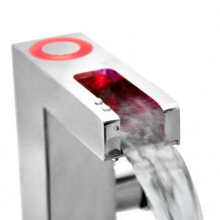 SCHÜTTE Mischbatterie mit LED und Wasserfall-Auslauf ORINOCO Verchromt - Vorschau 5