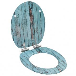 vidaXL Toilettensitz mit Soft-Close-Deckel MDF Altholz-Design