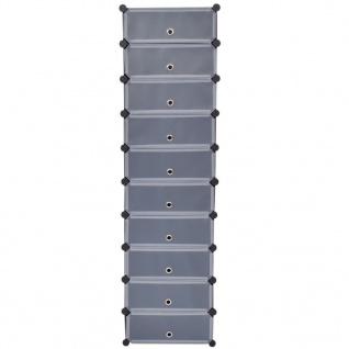 VidaXL VidaXL VidaXL Schuh-Organizer Zusammenklappbar mit 10 Fächern Schwarz 712cd2