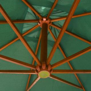 vidaXL Sonnenschirm Ampelschirm 300 x 300 cm Holzmast Grün - Vorschau 2