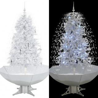 vidaXL Schneiender Weihnachtsbaum mit Schirmfuß Weiß 170 cm