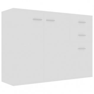 vidaXL Sideboard Hochglanz-Weiß 105 x 30 x 75 cm Spanplatte - Vorschau 2