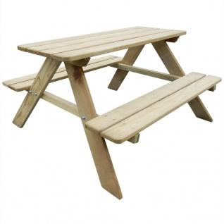 vidaXL Kinder-Picknicktisch 89ß89, 6ß50, 8 cm Kiefernholz