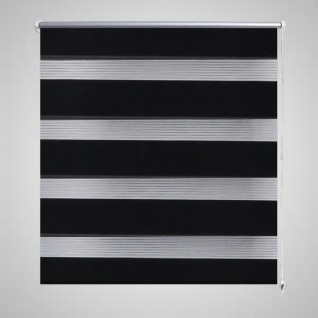 Doppelrollo 50 x 100 cm schwarz