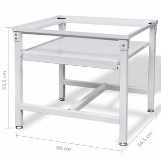 vidaXL Untergestell für Waschmaschine mit Ausziehablage Weiß - Vorschau 5