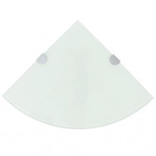 vidaXL Eckregal mit verchromten Halterungen Glas Weiß 25 x 25 cm
