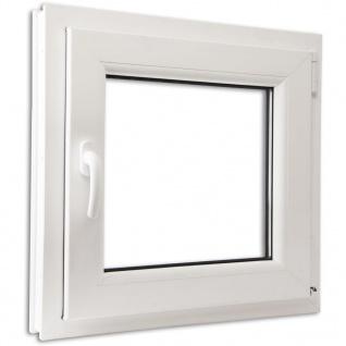 Dreifach Verglast PVC Drehkippfenster+Griff (linke Seite) 600x600mm