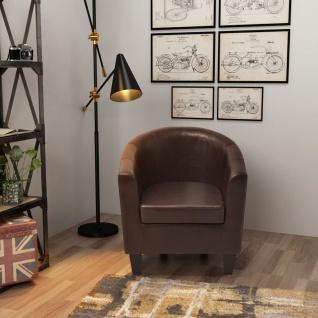 vidaXL Sessel aus Kunstleder Braun