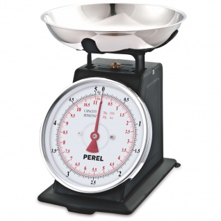 Perel Analoge Küchenwaage 5 kg Schwarz