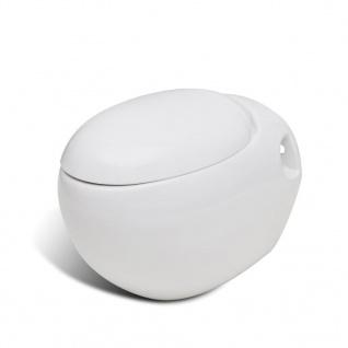 Wand-Hänge WC Toilette +Hänge Bidet+ SoftClose Weiß - Vorschau 5