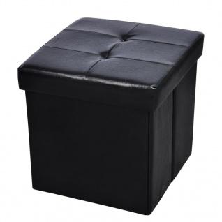 Hocker mit Stauraum 45x45x45 cm schwarz