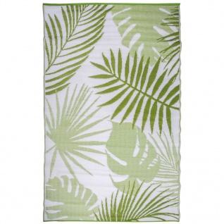 Esschert Design Outdoor Gartenteppich 241×152 cm Dschungelblätter OC22