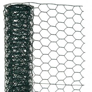 Nature Sechseckgeflecht 1x5 m 13 mm Kunststoffbeschichteter Stahl Grün