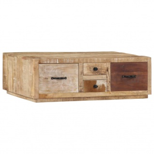 vidaXL Couchtisch 90 x 60 x 30 cm Massivholz Mango