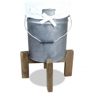 vidaXL Wäschekorb Eisen Verzinkt Altholz Massiv 30 x 30 x 58 cm - Vorschau 2
