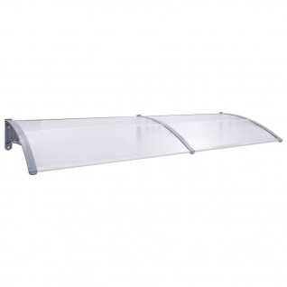 vidaXL Türvordach Grau und Transparent 300×80 cm PC