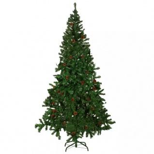 vidaXL Künstlicher Weihnachtsbaum mit Tannenzapfen 210 cm