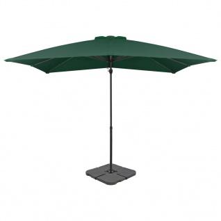 vidaXL Sonnenschirm mit Schirmständer Grün