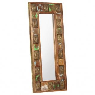 vidaXL Spiegel mit Buddha-Verzierung 50x110 cm Recyceltes Massivholz