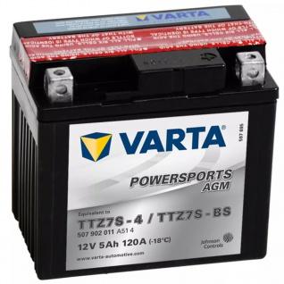 Varta AGM Batterie 12 V 5 Ah YTZ7S-4 / YTZ7S-BS
