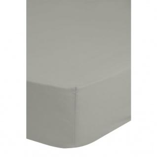 Emotion Bügelfreies Spannbettlaken 160 x 200 cm Hellgrau 0220.50.45