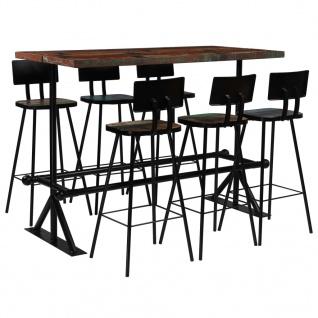 vidaXL Bar-Set 7-tlg. Massives Altholz Mehrfarbig